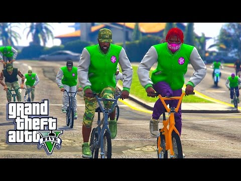 GTA 5 ONLINE - GANG WARS WITH KSG
