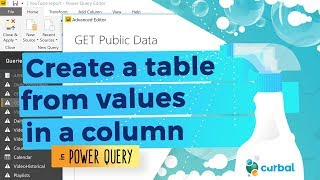 Create a table from values in Power Query #11: (M)agic (M)ondays