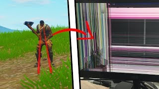 this Default Skin got so angry he broke his monitor playing Fortnite...
