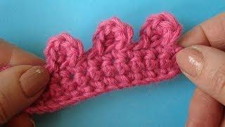 Улиточка Picot crochet  Пико Урок вязание крючком 330