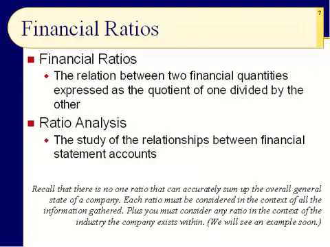 BUS123 Chapter 17 - Financial Statements and Ratio Analysis - Slides 1 to 19