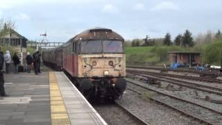 47765 Arrives at  Ruddington on the Great Central Railway Nottingham
