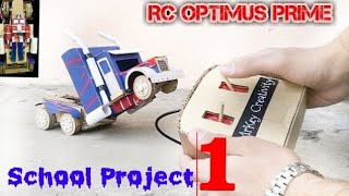 ➡️Amazing School Project-1☢️How to make Optimus prime ( The Transformer Container Truck)