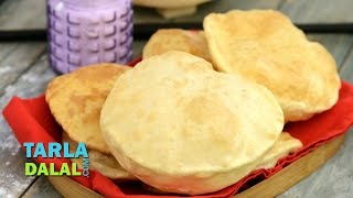 Bhatura, How to make Bhature, Step by Step by Tarla Dalal