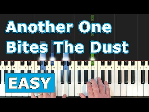 Queen - Another One Bites The Dust - Piano Tutorial Easy - Sheet Music (Synthesia)