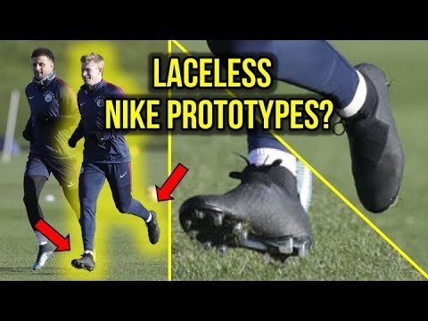 8098c5129688 IS NIKE MAKING LACELESS SOCCER CLEATS? *KEVIN DE BRUYNE WEARS PROTOTYPES*