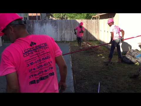 Best How To Bull Float Video & Finishing Tips--iConcrete Construction talks Breast Cancer Awareness