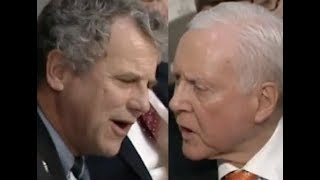 SHOUTING MATCH IN THE SENATE: Sherrod Brown vs. Orrin Hatch -