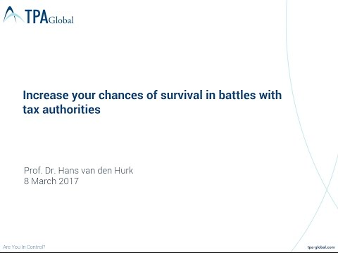 Increase your chances of survival in battles with tax authorities