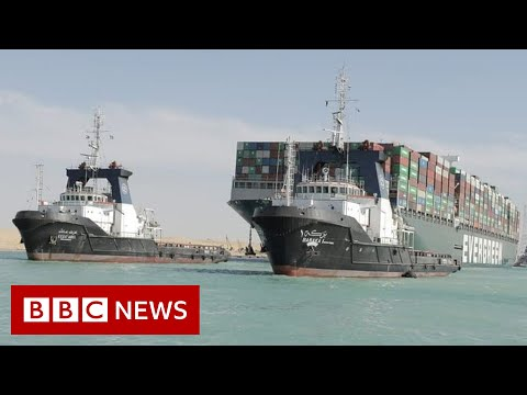 Suez Canal reopens after giant stranded ship is freed - BBC News