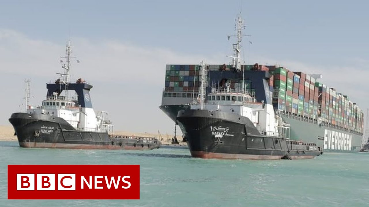 Ship Briefly Stranded in Suez Canal Before Being Freed