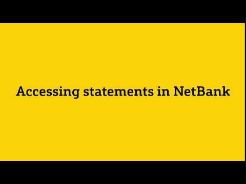 Download Statements In NetBank
