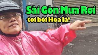Sài Gòn mưa rơi tơi bời hoa lá coi mà nhớ Quê hương quá bà con ơi!