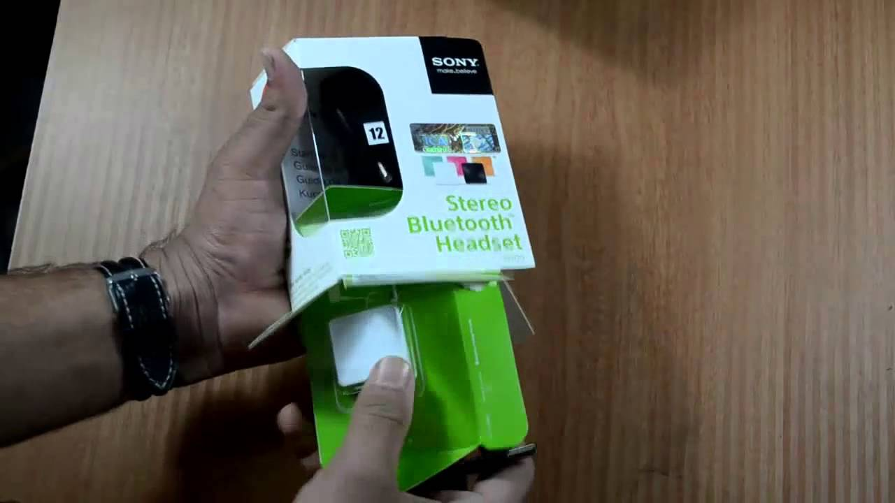 91f4fc3cb9c Sony sbh20 Bluetooth headset Unboxing and Review - YouTube
