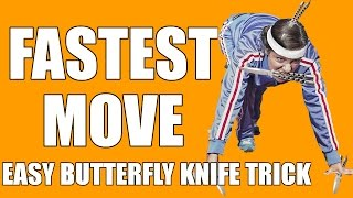 Butterfly Knife Tricks for Beginners #11 (Quickdraw) (FASTER THAN LIGHT)