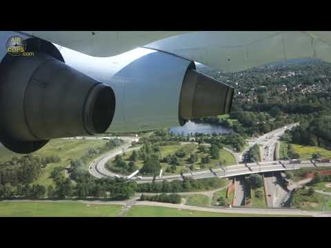 AMAZING 4-Engined BAe Avro RJ85: Brussels Airlines Takeoff From Hamburg!!! [AirClips]