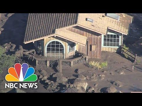 Aerials Show Montecito Devastation After Mudslides | NBC News