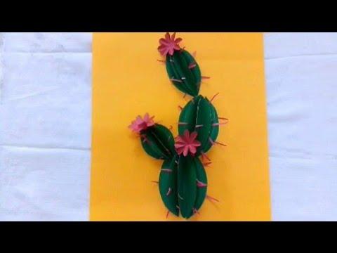 Paper cactus kids school project