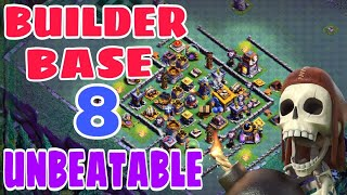 UNBEATABLE BUILDER HALL 8 BASE LAYOUT w/PROOF | Bh8 BEST Base with Extra Walls | June Update Base