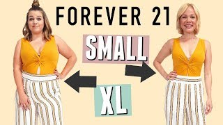 Size 4 \u0026 Size 12 Try on the Same Outfits from Forever 21!