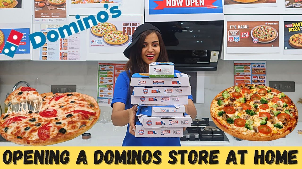 We Opened DOMINOS STORE at HOME 😋 | FUNNY FOOD CHALLENGE