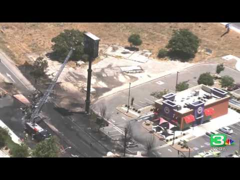 LiveCopter 3 shows aftermath Atwater of tanker truck fire