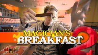 Magician VS Breakfast 2 | Touring Tricks with Ryan Joyce