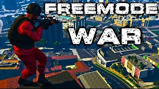 (GTA 5 Online) Freemode War vs CV13 Crew   and More
