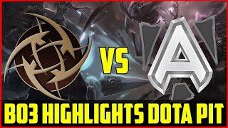 Admiralbulldog Is Back? Alliance Vs Nip Bo3 Highlights @ Dota Pit