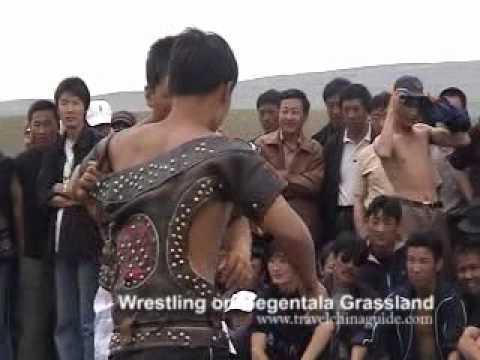Mongolian Wrestling - Gegentala Grassland, Inner Mongolia