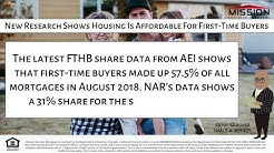 New Research Shows Housing Is Affordable For First-Time Buyers