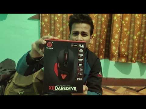Fantech X11 Daredevil Gaming Mouse Unboxing And Overview