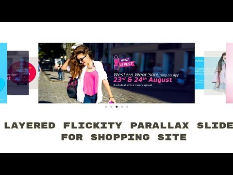 Layered Flickity Parallax Image Slider (HTML & CSS) for Shopping