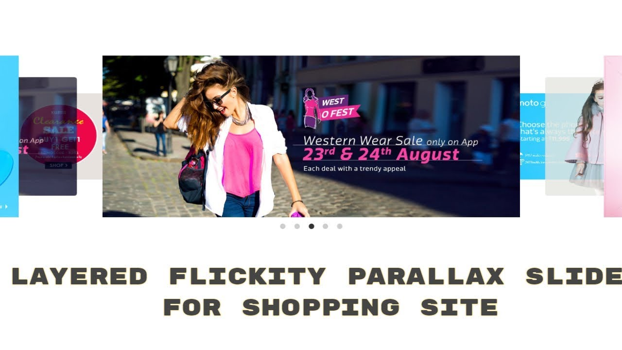 Layered Flickity Parallax Image Slider (HTML & CSS) for Shopping site