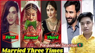 10 Bollywood Stars Who Married 3 Times   Bollywood Actress Married   Reaction Video