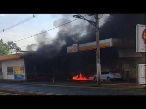 Incêndio em posto de combustível em Várzea Grande