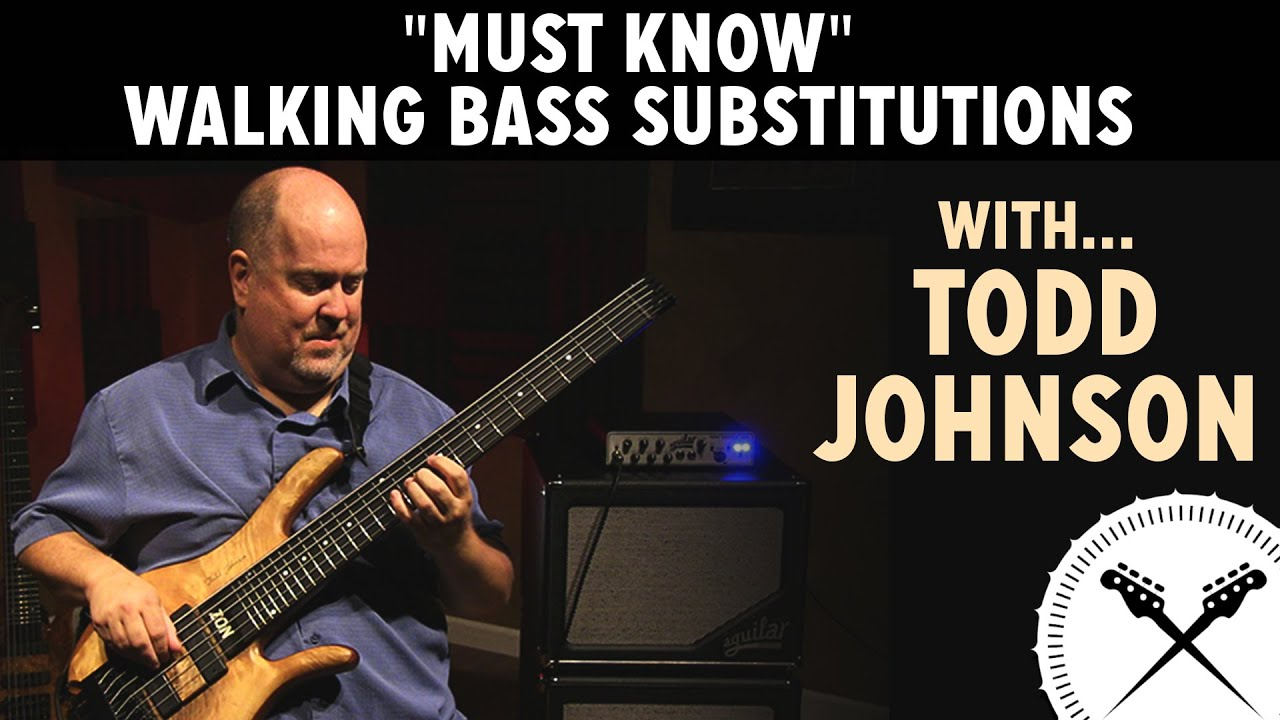 must know walking bass substitutions with tod with loop