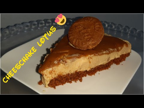حلا-اللوتس-اللذيذ-😋-بدون-فرن-ولا-بيض-ولا-جيلاتين-😍-من-اسهل-ما-يكون-..-cheesecake-lotus-sans-cuisson