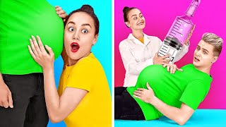 OMG! HE IS PREGNANT? || Funny Pregnancy Situations by 123 GO!