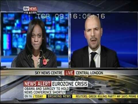 Petros Fassoulas (European Movement) on Skynews (03.11.11) - Part 2