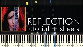 Download lagu Mulan - Reflection - Piano Tutorial + Sheet Music