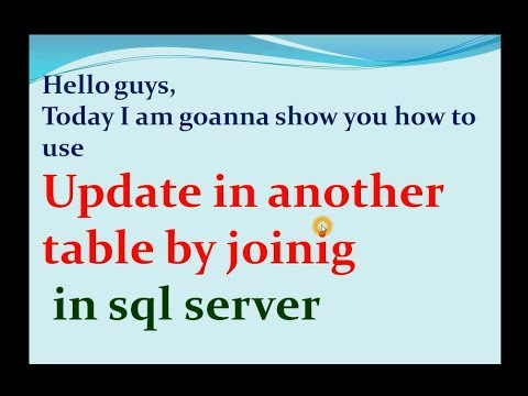 how to update with join in sql table. PART 9