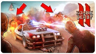 Zombie Driver takes on Road of the Undead! | Zombie Derby 2 Gameplay (PC Mobile)