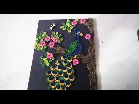Paper quilling art /paper quilling peacock /paper quilling decoration
