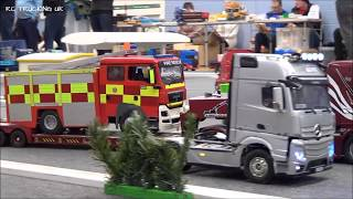 RC TRUCKS @ LEYLAND MARCH 2018 | TAMIYA RC SEMI TRUCKS IN ACTION
