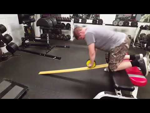 Incline board ab roller