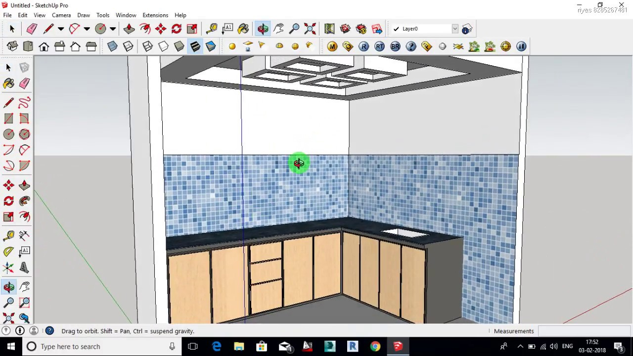 google sketchup kitchen design - YouTube