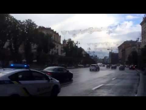 Maidan Square and Khreshchatyk street in Kiev, Ukraine travel video