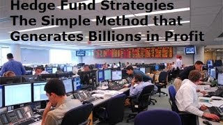 Hedge Fund Trading Strategies - Trade Forex Like the Hedge funds There Secret of Success