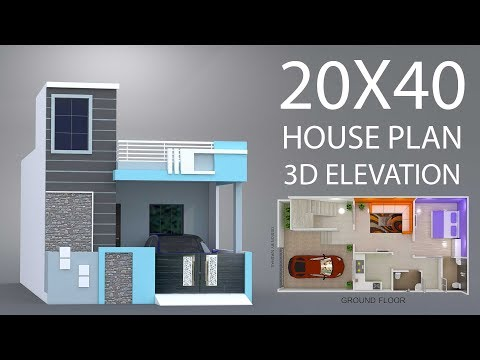 20x40 House Plan Car Parking With 3d Elevation By Nikshail